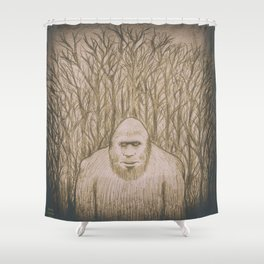 Sasquatch in the woods Shower Curtain