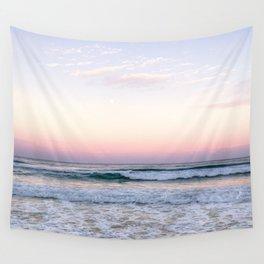 Aerial Beach Pastel Coastal Seashore  Wall Tapestry