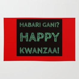 Habari Gani? Happy Kwanzaa! Rug