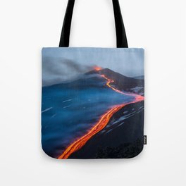 WHEN THE BEACH TURNS RED Tote Bag