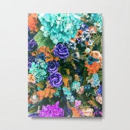 Multicolor Floral Metal Print