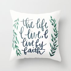 Galatians 2:20 Throw Pillow