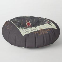 Cosmic Black Floor Pillow