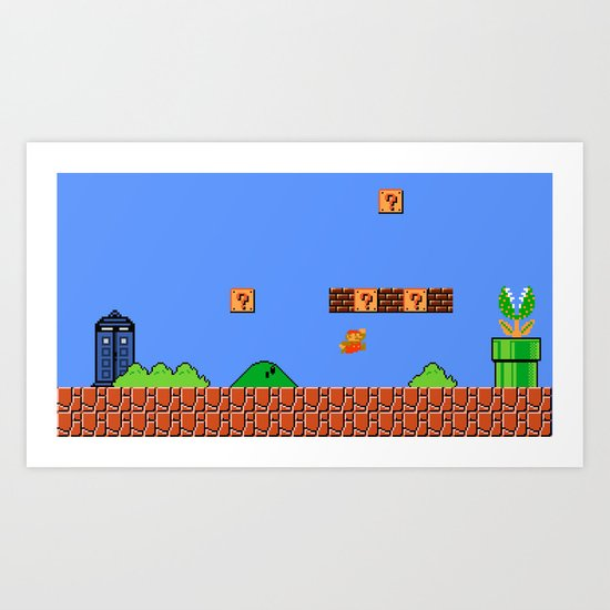 Dr. Mario? No...Doctor Who? Art Print