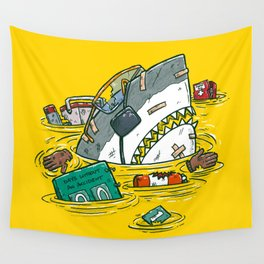 Safety Third Shark Wall Tapestry