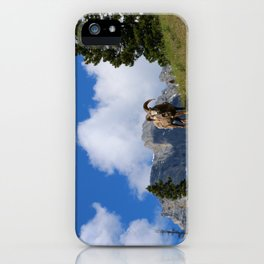 Ram Against Mountain Backdrop iPhone Case