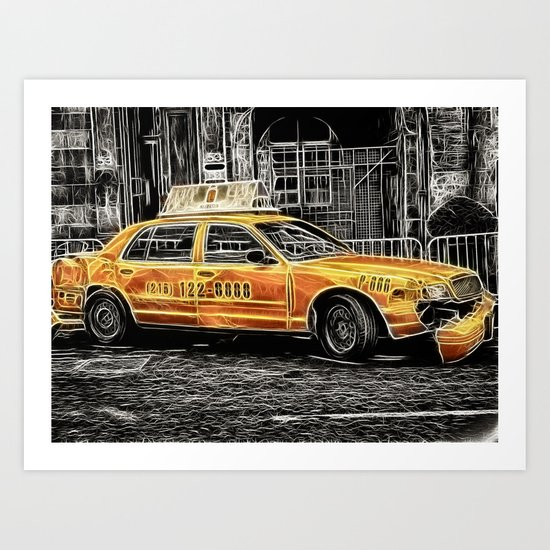Taxi for Govan Art Print