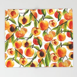 Passionate for peaches Throw Blanket