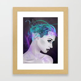 Assimilate the Body, Free the Mind Framed Art Print