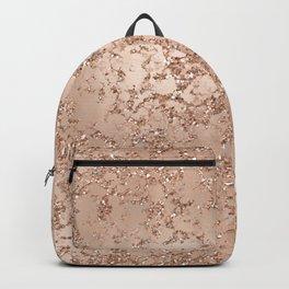 Rose Gold Crackle Backpack