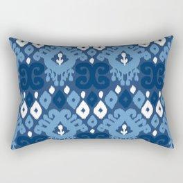 Ikat pattern indigo Rectangular Pillow