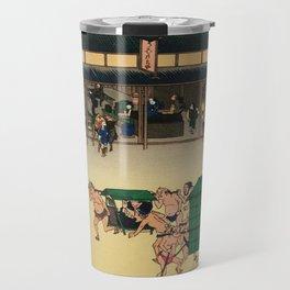 Teahouse in Kusatsu Japan -Woodblock Travel Mug
