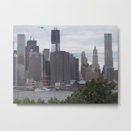 Manhattan, New York City, Skyline, Freedom Tower Construction Metal Print