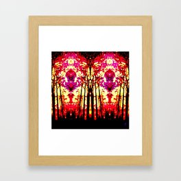 Sunset Stain Glass Framed Art Print