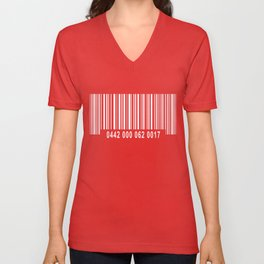 Barcode Inverse Unisex V-Neck