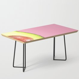 Avocado Pink Background Coffee Table