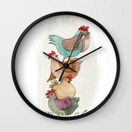 Hens Wall Clock