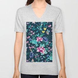 Colorful Spring flowers bloom Unisex V-Neck