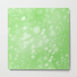 Lime Green Ombre Metal Print