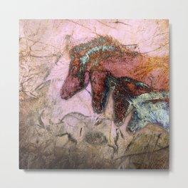 Chauvet Cave Horse Heads I Metal Print