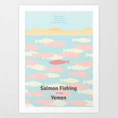 Salmon Fishing in the Yemen - Minimal poster Art Print