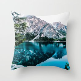 Reflected Peaks Throw Pillow