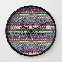 vodka Wall Clocks featuring Vodka Flow I by Jenndalyn