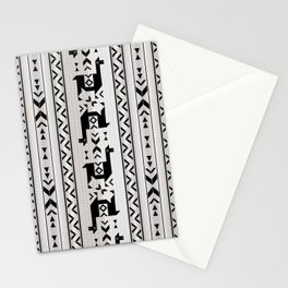Llamas_Gray & Black Stationery Cards
