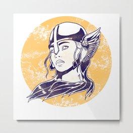 Viking Nordic Valkyrie Myth Valhalla Princess Gift Metal Print