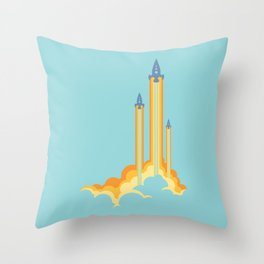Lift-off! Throw Pillow