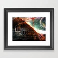 Derelict window Framed Art Print