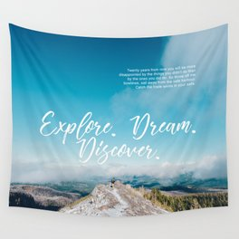 EXPLORE / DREAM / DISCOVER Wall Tapestry
