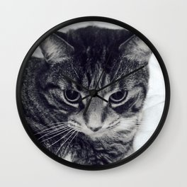 Moggins by #SmallPerson Wall Clock