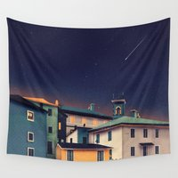allyson johnson Wall Tapestries featuring Castles at Night by Schwebewesen • Romina Lutz