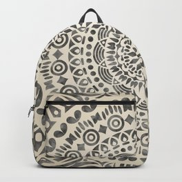 mandala12w Watercolor Mandala Backpack