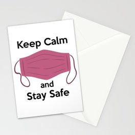 AP180-6 Keep Calm and Stay Safe Stationery Cards