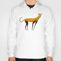 cheetah Hoodies featuring Cheetah  by Ashley Percival illustration