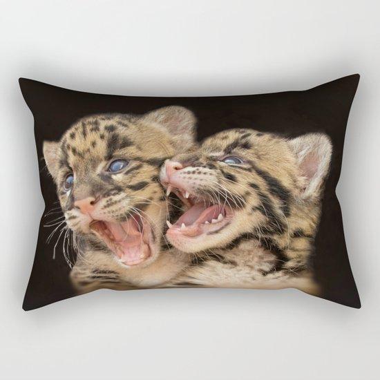 CLOUDED LEOPARD CUBS LOVE Rectangular Pillow