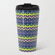 Pixel modern geometric seamless pattern ornament Metal Travel Mug