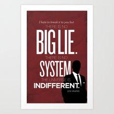 Mad Men Typographic poster Art Print