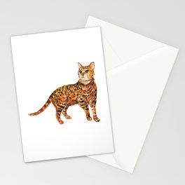 Cat, Animal Art, Orange Cat Print, Animal, Little Kitten, Kitten Art Stationery Cards