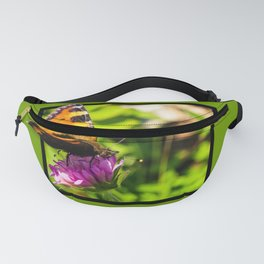 Butterly on the flower 3D pop out of frame effect Fanny Pack