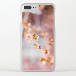 pink blossom 2 Clear iPhone Case