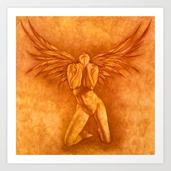 Angel Rising Art Print