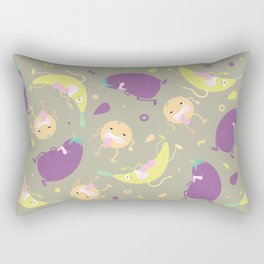 Silly Produce Party Rectangular Pillow