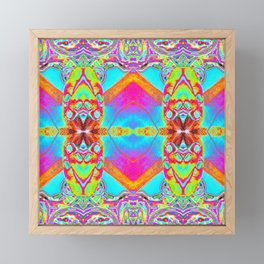 Blotter Paper 17 - Mixed Media Psychedelic Art Framed Mini Art Print