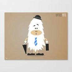 Office Yeti, Yeti Wall Art, Office Art Canvas Print