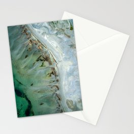 Golden Green Sea Stationery Cards