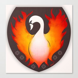SwanFire Family Crest Canvas Print