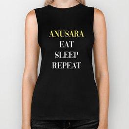Anusara Eat Sleep Repeat Biker Tank